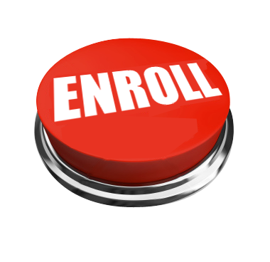 ENROLL-word-on-round-red-button